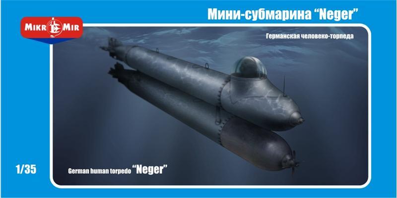 Пластиковая модель человеко-торпеды Neger Amp/Micro-Mir 35001