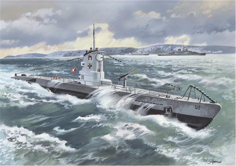 Немецкая подводная лодка тип IIB (1939) ICM 009