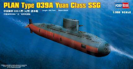 Подводная лодка PLAN Type 039A Yuan Class SSG Hobby Boss 83510