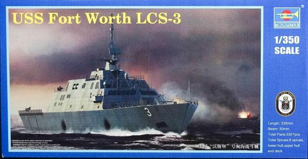 Американский боевой корабль прибрежной зоны Fort Worth LCS-3 Trumpeter 04553