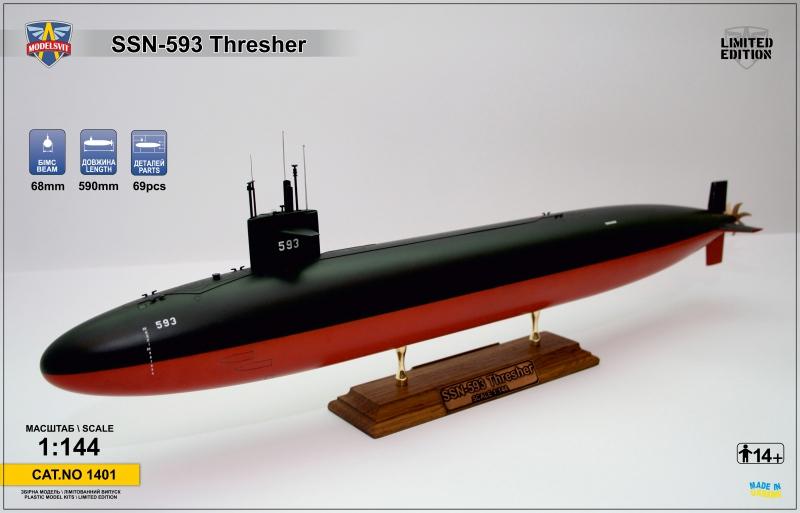 Подводная лодка Thresher (SSN-593) ModelSvit 1401