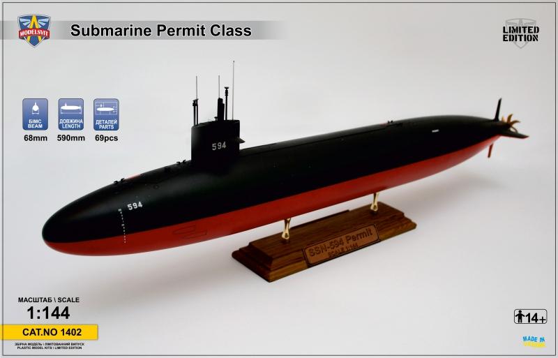 Подводная лодка Permit (SSN-594) ModelSvit 1402