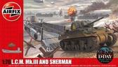 Десантный катер LCM Mk.III и танк Sherman, 2 модели в наборе от Airfix