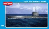 Немецкая подводная лодка XVIIB Walter