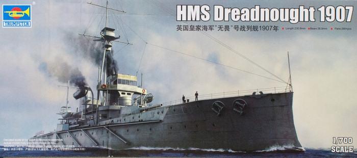 Корабль HMS Dreadnought 1907 Trumpeter 06704