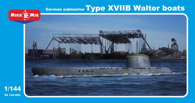 Подводная лодка типа XVIIB Micro-Mir 144006