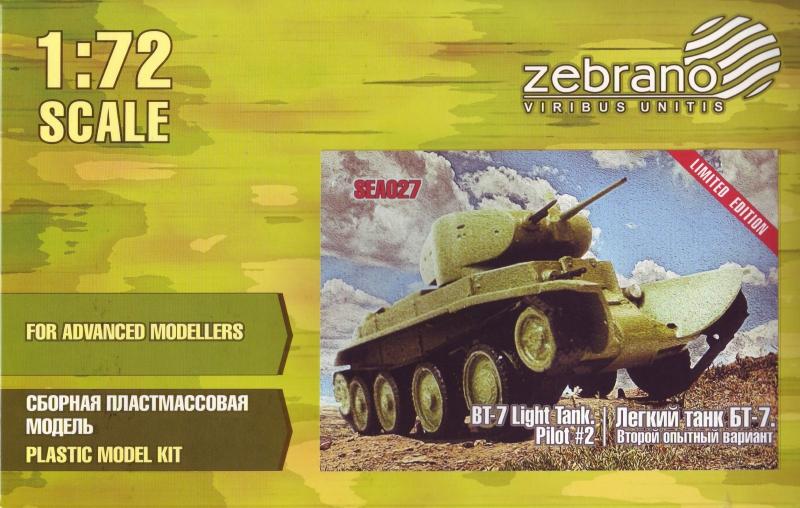 Легкий танк БТ-7, второй опытный вариант Zebrano 027