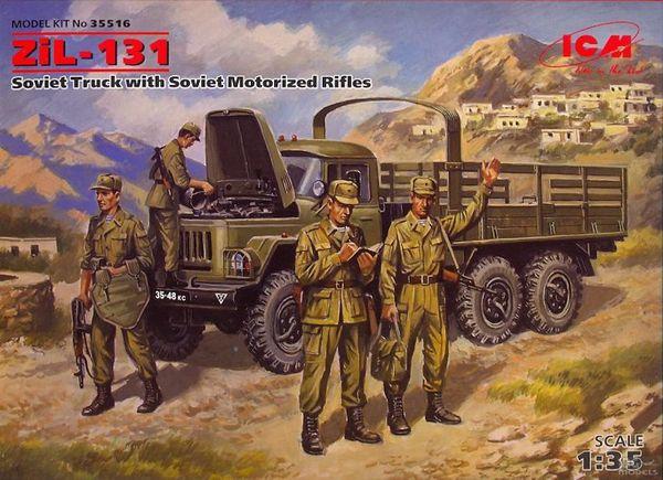 Советский грузовой автомобиль ЗиЛ-131 с советской мотопехотой ICM 35516