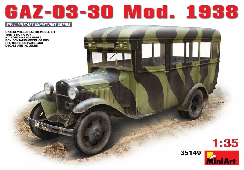 Советский автобус ГАЗ-03-30 обр. 1938 г. MiniArt 35149
