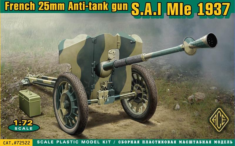 Французская противотанковая пушка 25 мм SA Mle 1937 Ace 72522