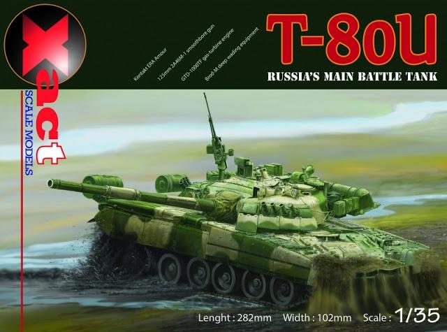 Советский основной боевой танк T-80U Xact Models 35001