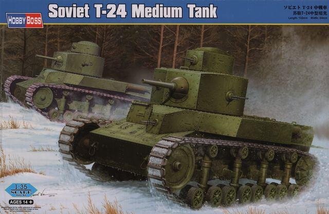 Советский средний танк T-24 Hobby Boss 82493