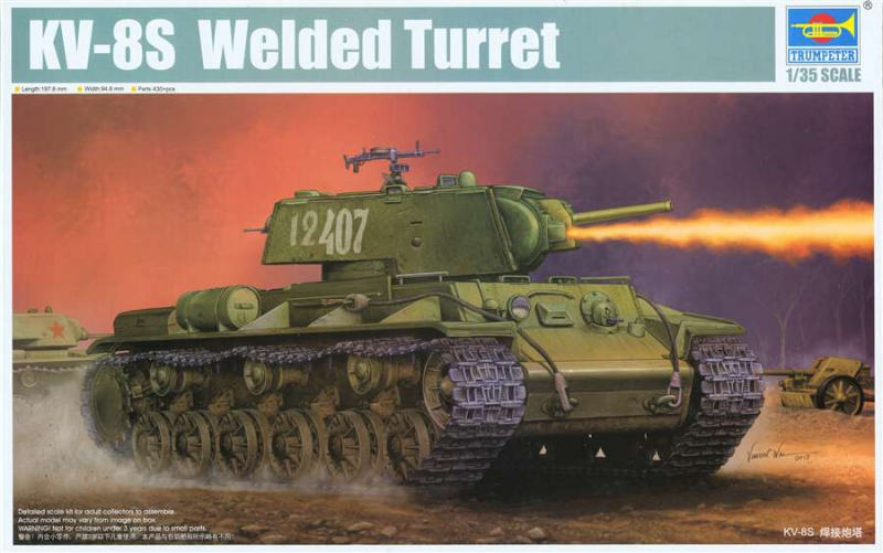 Советский танк КВ-8С  Welded Turret Trumpeter 01568