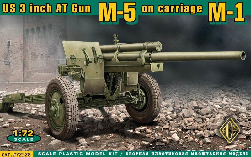 Американская 3 дюймовая противотанковая пушка М-5 на лафете от M-1 Ace 72528
