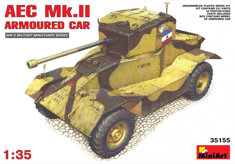 Британский бронеавтомобиль AEC Mk.II MiniArt 35155