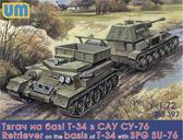 Тягач на базе Т-34 с САУ СУ-76