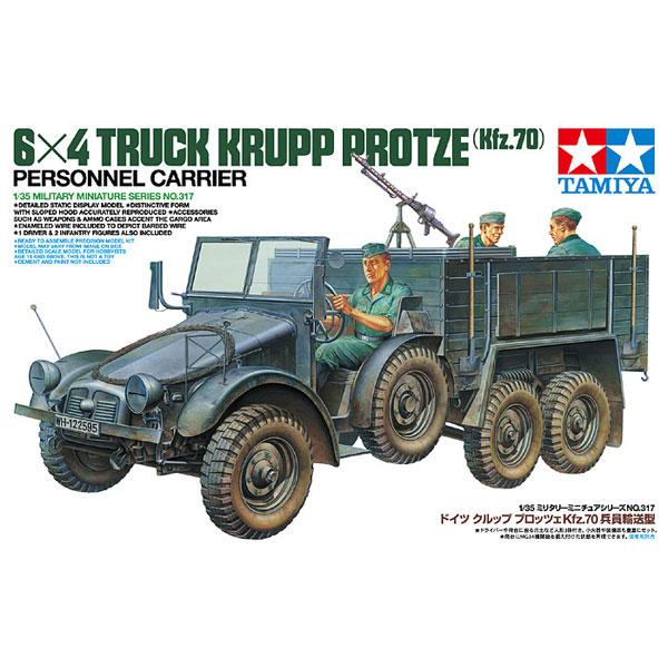 Немецкий грузовик Krupp Protze 1 ton (6x4) Tamiya 35317