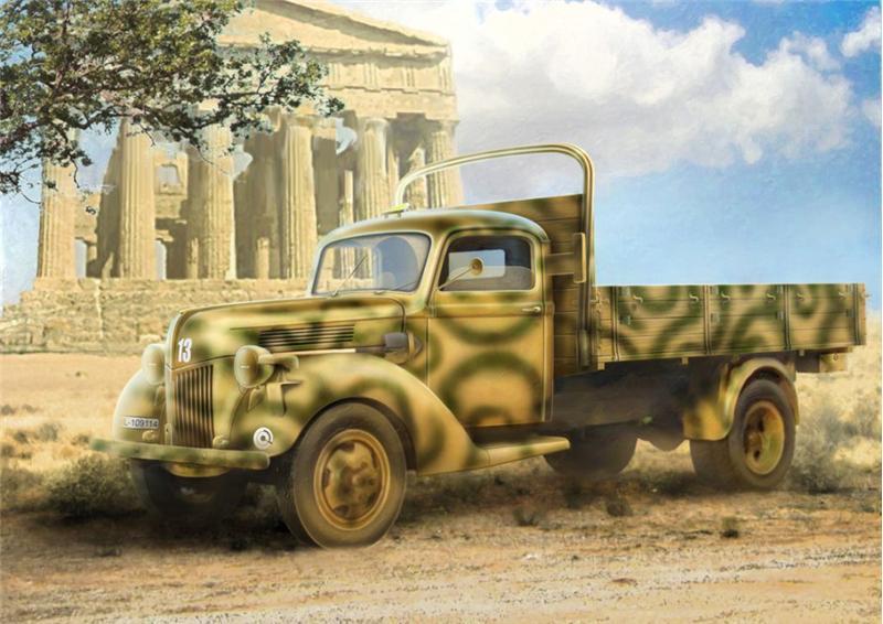 Германский армейский грузовик V3000S (производства 1941 г.) ICM 35411