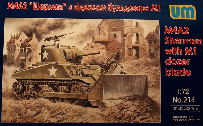 Танк M4A2 с отвалом бульдозера М1 Unimodels 214