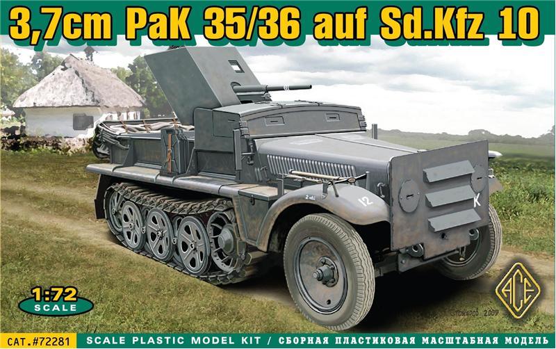 Бронетранспортер 37 мм PaK 35/36 auf Sd.Kfz 10 Ace 72281
