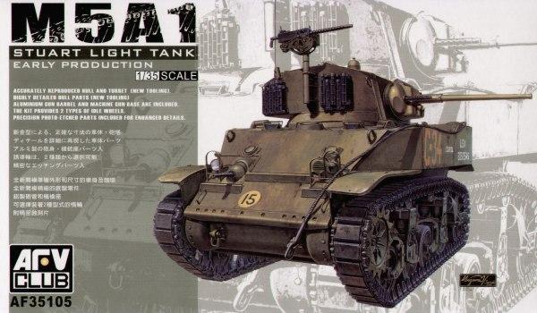 Легкий танк M5 (ранний) Afv-Club 35105
