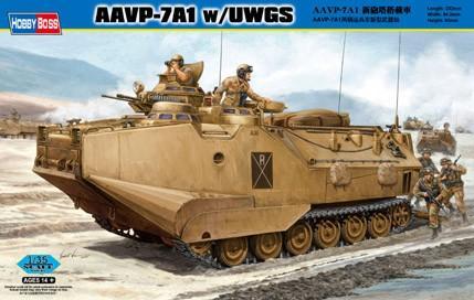 Десантно-гусеничная машина-амфибия морской пехоты США AAVP-7A1 w/UWGS Hobby Boss 82412