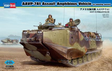 Десантно-гусеничная машина-амфибия морской пехоты США AAVP-7A1 Assault Amphibious Vehicle (w/mountin Hobby Boss 82413