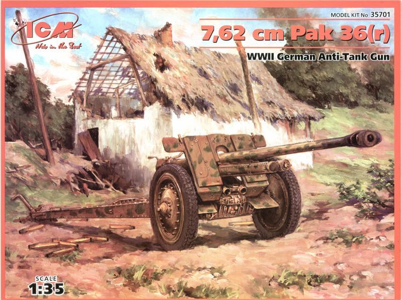 Немецкая противотанковая пушка 7,62 cm Pak 36 (r) ICM 35701