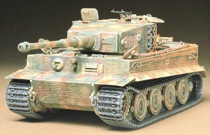 Модель немецкого танка Tiger I поздняя версия для склеивания Tamiya 35146