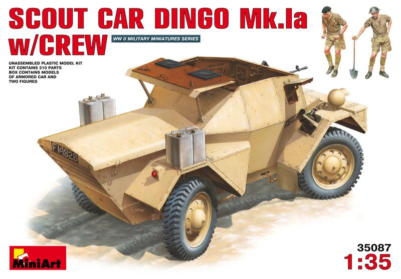 Разведывательный бронеавтомобиль Динго Mк.1a с экипажем. MiniArt 35087