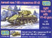 Легкий танк Т-80 с пушкой ВТ-43
