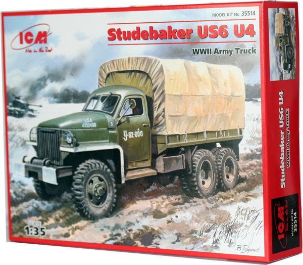 Армейский грузовой автомобиль II МВ Studebaker US6 U4 ICM 35514
