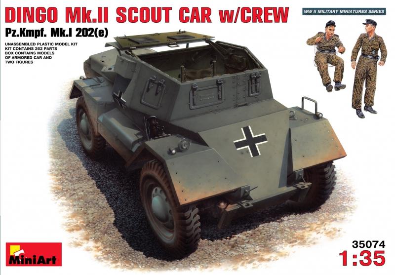Бронеавтомобиль Динго Мк.2 с экипажем Pz.Kmpf. Mk.I 202(e) MiniArt 35074