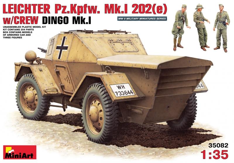 Бронеавтомобиль Leichter Pz.kpfw. 202(e) с экипажем (Динго Mk.I) MiniArt 35082