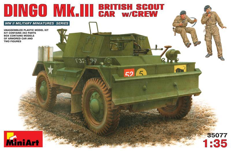 Британский  разведывательный  автомобиль Динго Mк.III с экипажем MiniArt 35077