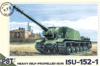 Пластиковая модель самоходной артиллерийской установки ИСУ-152-1 PST 72007
