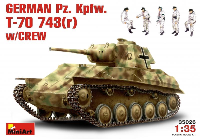 Немецкий танк Pz. Kpfw.743(r) с экипажем MiniArt 35026
