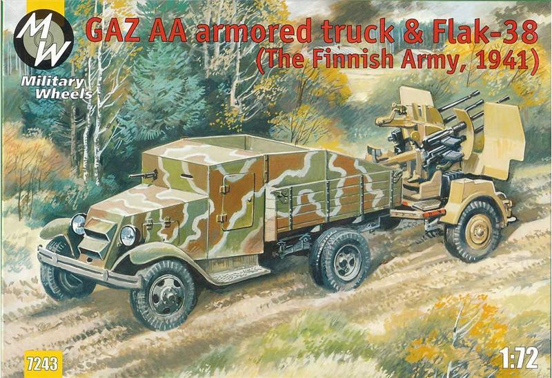 Бронемашина на базе автомобиля ГАЗ-АА и зенитная пушка Flak-38 Military Wheels 7243