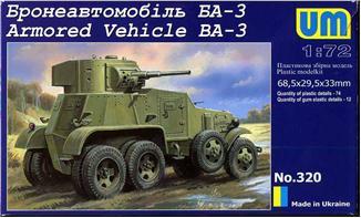 Бронеавтомобиль БА-3 Unimodels 320