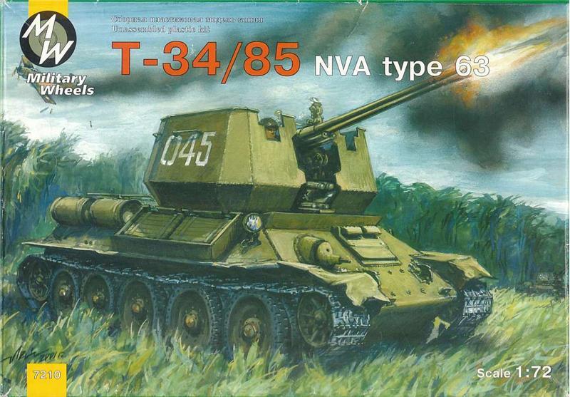 MW7210 T-34-85 NVA type 63 Soviet WWII medium tank Military Wheels 7210