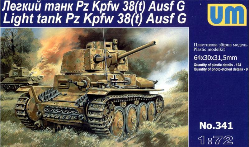 Легкий танк Pz.Kpfw 38(t) Ausf.G Unimodels 341