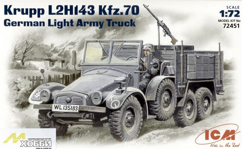Немецкий тягач Krupp L2H143 Kfz.70 ICM 72451