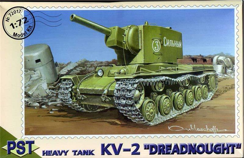 Сборная пластиковая модель танка КВ-2 Dreadnought PST 72017