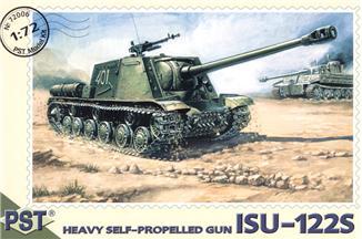 Сборная модель самоходной артиллерийской установки ИСУ-122С PST 72006