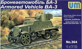 Бронеавтомобиль БА-3 Unimodels 364