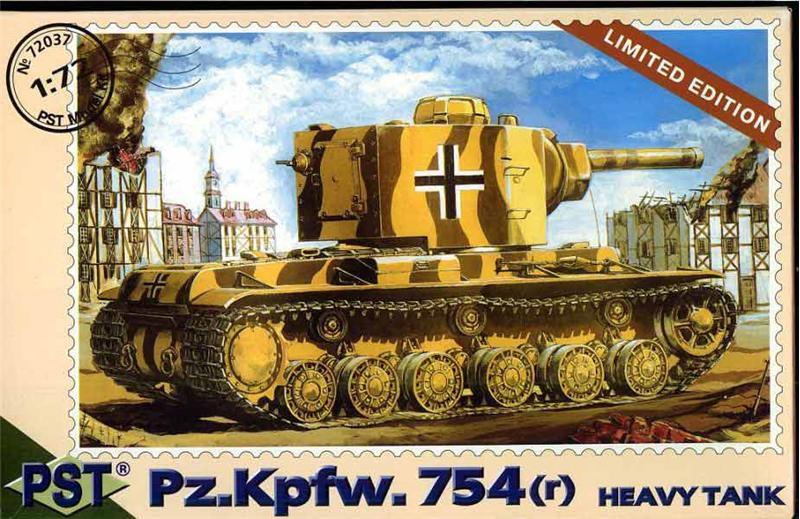 Масштабная модель немецкого тяжелого танка Pz.Kpfw 754 (r) PST 72037