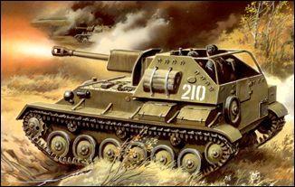 Легкая самоходная установка СУ-76М на базе танка Т-70 Unimodels 308