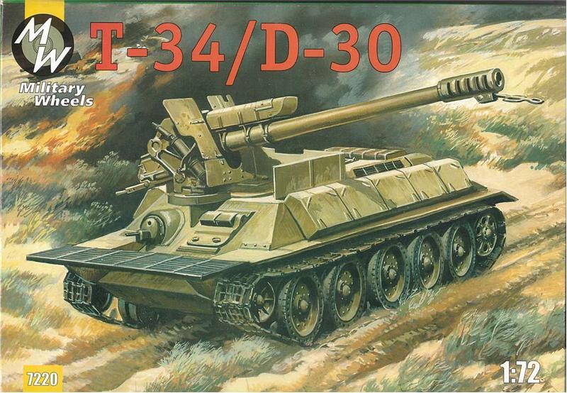 Самоходное орудие на базе танка T-34 Military Wheels 7220
