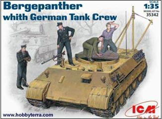 БРЭМ Bergepanther с немецким танковым экипажем ICM 35342