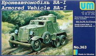 Бронеавтомобиль БА-1 Unimodels 363